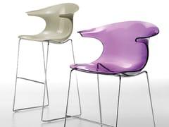 - Sled base plastic stool LOOP | Sled base stool - Infiniti