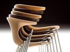 - Stackable multi-layer wood chair LOOP | Multi-layer wood chair - Infiniti