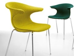 - Upholstered fabric chair LOOP | Upholstered chair - Infiniti