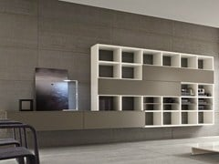 - Wall-mounted lacquered storage wall SPEED C - Dall'Agnese