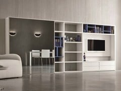 - Lacquered TV wall system SPEED L - Dall'Agnese