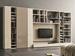 - Lacquered TV wall system SPEED F - Dall'Agnese