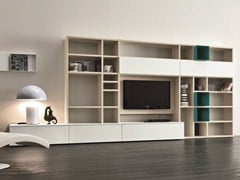 - Lacquered TV wall system SPEED N - Dall'Agnese