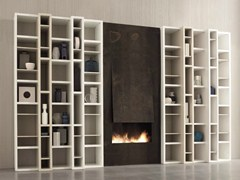 - Open lacquered modular bookcase SPEED B - Dall'Agnese