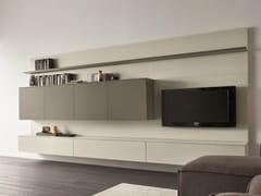 Mueble modular de pared composable con soporte para tv for Wohnwand italian design