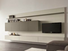 mueble modular de pared composable con soporte para tv slim 1 by dall agnese dise o imago design. Black Bedroom Furniture Sets. Home Design Ideas