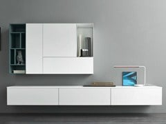- Sectional lacquered storage wall SLIM 3 - Dall'Agnese