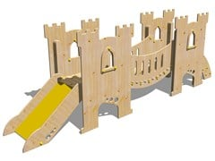 - Wooden Play structure CASTELLO GRAAL - Legnolandia