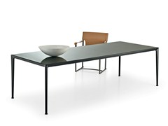 - Rectangular glass table MIRTO INDOOR | Rectangular table - B&B Italia