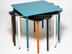 - Stackable square die cast aluminium table SPINDLE | Square table - Tacchini Italia Forniture