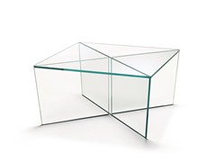 - Low square glass coffee table MIRAGE | Square coffee table - T.D. Tonelli Design