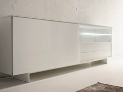- Lacquered sideboard with sliding doors SLIDE | Lacquered sideboard - Dall'Agnese