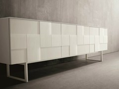 - Lacquered glass sideboard with doors GLASS | Glass sideboard - Dall'Agnese