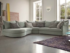 - Corner fabric sofa with removable cover EVERY | Corner sofa - Dall'Agnese
