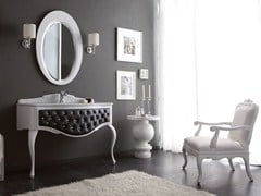 - Tufted console sink with drawers GLAM 04 - LEGNOBAGNO
