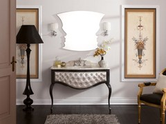 - Tufted console sink with drawers GLAM 02 - LEGNOBAGNO