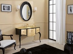 - Lacquered console sink with drawers GLAM 03 - LEGNOBAGNO