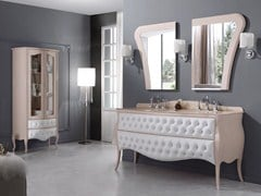 - Tufted double vanity unit with drawers VANITY DUETTO 01 - LEGNOBAGNO