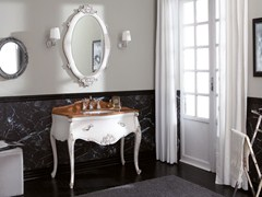 - Lacquered vanity unit with drawers VANITY INTAGLIATO 01 - LEGNOBAGNO