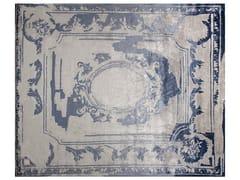 - Handmade custom rug FONTENAY NEW AGE NAVY - EDITION BOUGAINVILLE