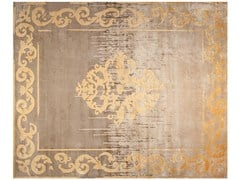 - Contemporary style custom handmade rectangular rug AMIRAL SHADOW VINTAGE AUTUMN - EDITION BOUGAINVILLE