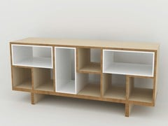 - Double-sided wooden sideboard MÉLI-MÉLO | Sideboard - MALHERBE EDITION