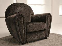 - Velvet armchair with armrests MEMORY   Velvet armchair - Dall'Agnese