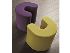 - Upholstered fabric pouf ROUND TWIN - Dall'Agnese
