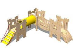 - Wooden Play structure CASTELLO SIR-BIS - Legnolandia