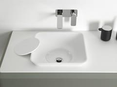 - Square Cristalplant® washbasin FLUENT | Semi-inset washbasin - INBANI