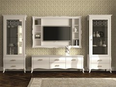 - Sectional lacquered storage wall SYMFONIA | Lacquered storage wall - Dall'Agnese