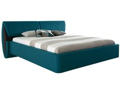 - Upholstered double bed with adjustable headrest SERA | Bed with adjustable headrest - Hülsta-Werke Hüls