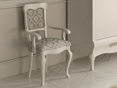 - Upholstered lacquered chair with armrests SYMFONIA | Lacquered chair - Dall'Agnese