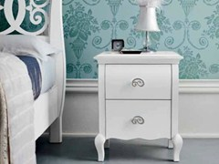 - Lacquered bedside table with drawers SYMFONIA | Lacquered bedside table - Dall'Agnese
