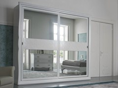 - Lacquered mirrored wardrobe with sliding doors SYMFONIA | Lacquered wardrobe - Dall'Agnese