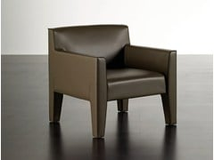 - Tanned leather easy chair TATTOO | Easy chair - Meridiani