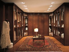 - Custom wooden walk-in wardrobe UNICO | Wooden walk-in wardrobe - Dall'Agnese