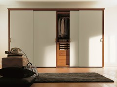 - Wooden wardrobe with sliding doors UNICO | Wardrobe with sliding doors - Dall'Agnese