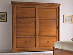 - Cherry wood wardrobe with sliding doors BOHEMIA | Wardrobe with sliding doors - Dall'Agnese