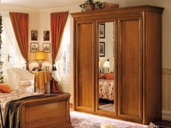 - Mirrored cherry wood wardrobe CHOPIN | Wardrobe for kids' bedrooms - Dall'Agnese