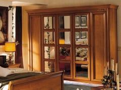 - Mirrored cherry wood wardrobe CHOPIN | Wardrobe - Dall'Agnese