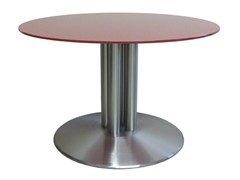 - Round stainless steel contract table BALIS-85-4-cover - Vela Arredamenti