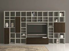- Open lacquered TV wall system SPEED 25 - Dall'Agnese
