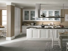 - Wooden kitchen with island NUOVO MONDO N01 - Scandola Mobili