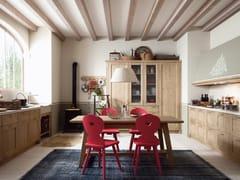- Rustic style linear kitchen TABIÀ T02 - Scandola Mobili