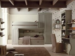 - Bedroom set with bridge wardrobe for boys/girls NUOVO MONDO N11 - Scandola Mobili