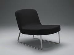 - Sled base upholstered fabric easy chair PLOON | Sled base easy chair - mminterier
