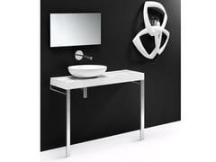 Piano lavabo singolo in ceramicaFLOW CER - A. E T. ITALIA