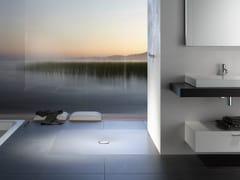 - Flush fitting square enamelled steel shower tray BETTEFLOOR | Square shower tray - Bette