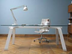 - Rectangular table TORONTO | Glass and steel table - Midj